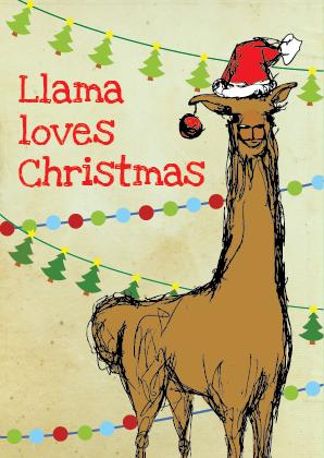 Llama loves Christmas